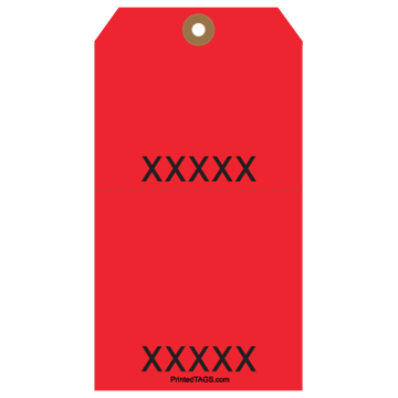 Picture of Red Tear-Off Stub Tag (50/Pack)