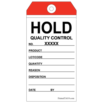 Picture of Two-Part QC Hold Tag (50/Pack)