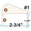 Picture of Blank Tags (Size #1), 13pt. White OR Manila Tag Stock