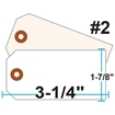 Picture of Blank Tags (Size #2), 13pt. White OR Manila Tag Stock