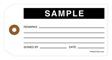 Picture of White Sample Tag (1000/Box)