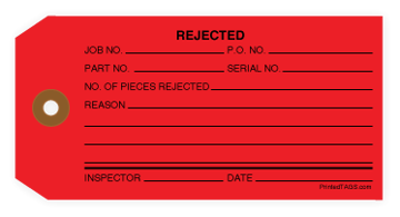 Picture of Red Rejected Tag (1000/Box)