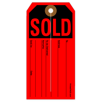 Picture of Sold Tag (200/Box)