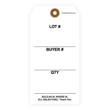 Picture of Stock Lot/Buyer Tag (1000/Box)