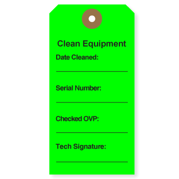 Picture of Clean Equipment Tags