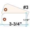 Picture of Blank Tags (Size #3), 13pt. White OR Manila Tag Stock