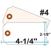 Picture of Blank Tags (Size #4), 13pt. White OR Manila Tag Stock