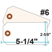 Picture of Blank Tags (Size #6), 13pt. White OR Manila Tag Stock