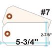 Picture of Blank Tags (Size #7), 13pt. White OR Manila Tag Stock
