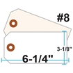 Picture of Blank Tags (Size #8), 13pt. White OR Manila Tag Stock