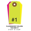 Picture of 2.75 X 1.375 in. (Size #1), Blank Fluorescent Tags