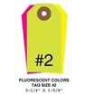 Picture of 3.25 X 1.625 in. (Size #2), Blank Fluorescent Tags