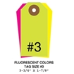 Picture of 3.75 X 1.875 in. (Size #3), Blank Fluorescent Tags