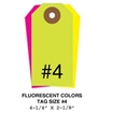 Picture of 4.25 X 2.125 in. (Size #4), Blank Fluorescent Tags