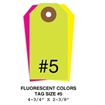 Picture of 4.75 X 2.375 in. (Size #5), Blank Fluorescent Tags