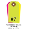 Picture of 5.75 X 2.875 in. (Size #7), Blank Fluorescent Tags