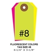Picture of 6.25 X 3.125 in. (Size #8), Blank Fluorescent Tags