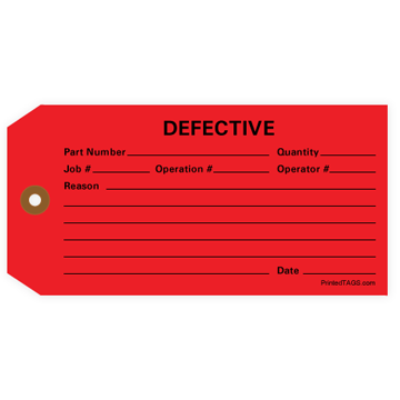 Picture of Red Defective Tag (1000/Box)