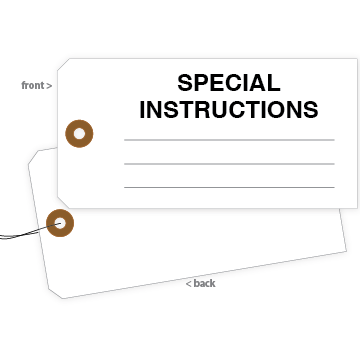 Picture of Special Instructions Tag (100/Pack)