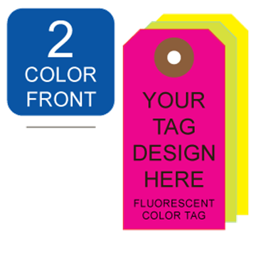 Picture of 2/0 Custom Printing on #2 Fluorescent Tag Stock