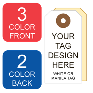 Picture of 3/2 Custom Printing on #1 White or Manila Tag Stock