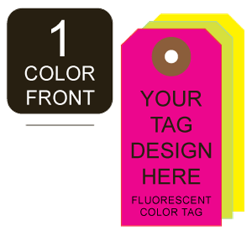 Picture of 1/0 Custom Printing on #3 Fluorescent Tag Stock