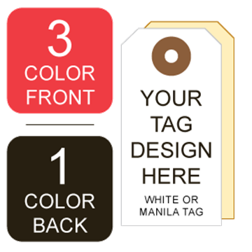 Picture of 3/1 Custom Printing on #2 White or Manila Tag Stock