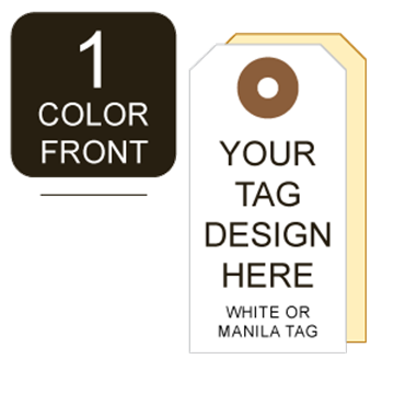 Picture of 1/0 Custom Printing on #3 White or Manila Tag Stock