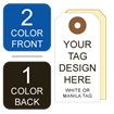 Picture of 2/1 Custom Printing on #2 White or Manila Tag Stock