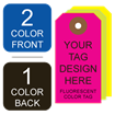 Picture of 2/1 Custom Printing on #3 Fluorescent Tag Stock