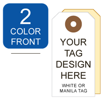Picture of 2/0 Custom Printing on #3 White or Manila Tag Stock