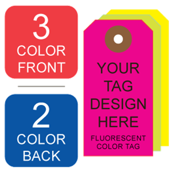 Picture of 3/2 Custom Printing on #3 Fluorescent Tag Stock