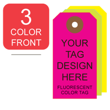 Picture of 3/0 Custom Printing on #4 Fluorescent Tag Stock