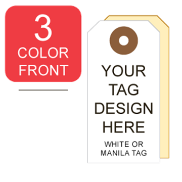 Picture of 3/0 Custom Printing on #4 White or Manila Tag Stock