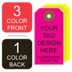 Picture of 3/1 Custom Printing on #4 Fluorescent Tag Stock
