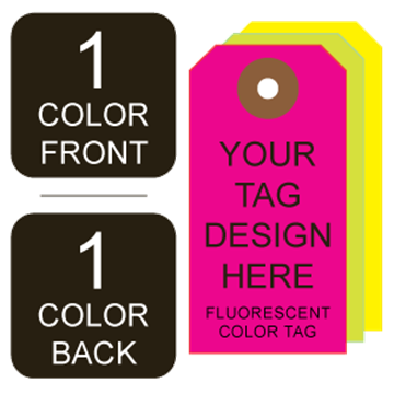 Picture of 1/1 Custom Printing on #6 Fluorescent Tag Stock