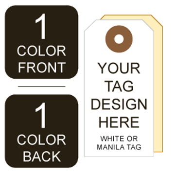 Picture of 1/1 Custom Printing on #7 White or Manila Tag Stock