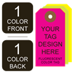 Picture of 1/1 Custom Printing on #8 Fluorescent Tag Stock