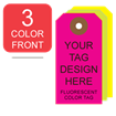 Picture of 3/0 Custom Printing on #5 Fluorescent Tag Stock