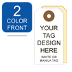 Picture of 2/0 Custom Printing on #5 White or Manila Tag Stock