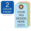 Picture of 2/0 Custom Printing on #6 Color Tag Stock
