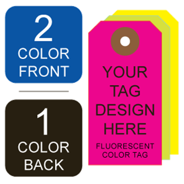 Picture of 2/1 Custom Printing on #4 Fluorescent Tag Stock