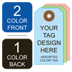 Picture of 2/1 Custom Printing on #5 Color Tag Stock