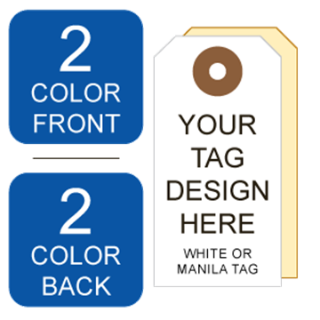 Picture of 2/2 Custom Printing on #4 White or Manila Tag Stock