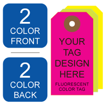 Picture of 2/2 Custom Printing on #8 Fluorescent Tag Stock