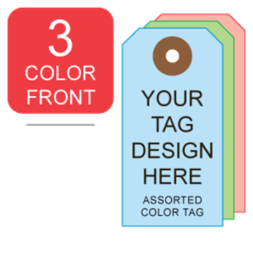 Picture of 3/0 Custom Printing on #7 Color Tag Stock