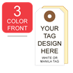 Picture of 3/0 Custom Printing on #7 White or Manila Tag Stock
