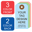 Picture of 3/2 Custom Printing on #6 Color Tag Stock