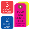 Picture of 3/2 Custom Printing on #6 Fluorescent Tag Stock