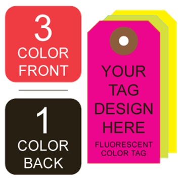 Picture of 3/1 Custom Printing on #7 Fluorescent Tag Stock